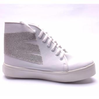 Femine - Sepatu Boots Kets Sport Wanita BT01 - Putih - 2