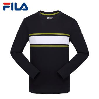 Beli FILA Katun Musim Semi Dan Musim Panas Baru Leher Bulat Lengan Panjang T-shirt (Legenda Biru E-NV) Murah