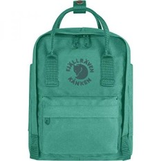 Fjallraven - Kanken, Re-Kanken Mini Recyclable Pack, Heritage and Responsibility Since 1960, Emerald - intl