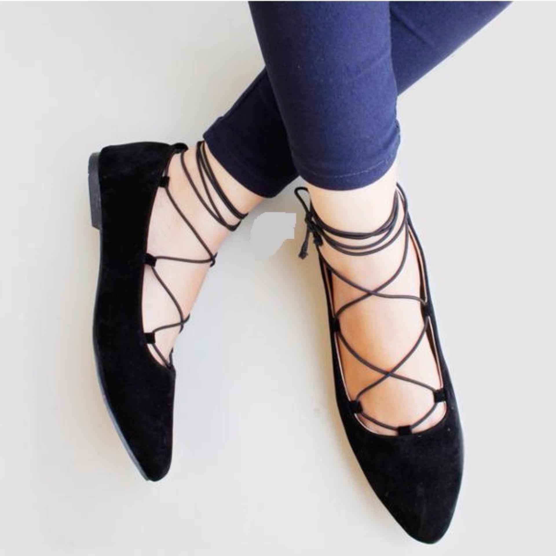 Flatshoes Balerina Hitam Daftar Harga Terkini Dan Terlengkap Pasar Amazara Delia Black 36