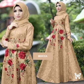... Flavia Store Maxi Dress Lengan Panjang Bordir Bunga FS0138 - MOCCA / Gamis / Gaun Pesta Humaira99 Gamis Syari Muslim Wanita Busui Dress Muslimah ...