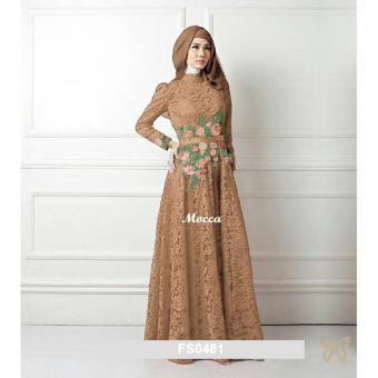 harga Flavia Store Maxi Dress Lengan Panjang Set 3 in 1 Bordir Bunga FS0481 - COKLAT MOCCA / Gamis / Gaun Pesta Muslimah / Baju Muslim Wanita / Hijab / Srrosalinda Lazada.co.id