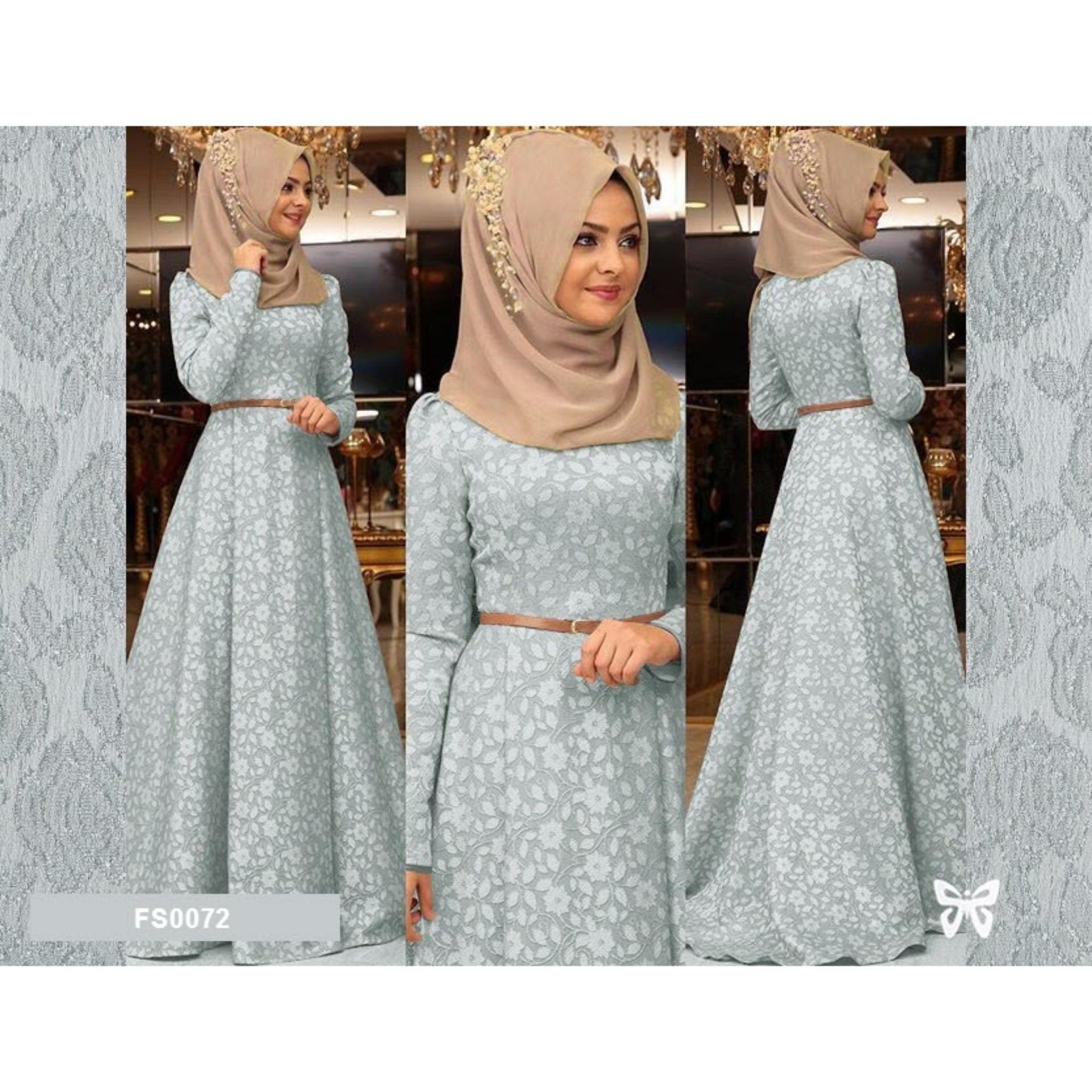 Jual Beli Flavia Store Maxi Dress Lengan Panjang Set 3 In 1 Fs0072 Tcash Vaganza 36 Totebag Ethnic Black Abu