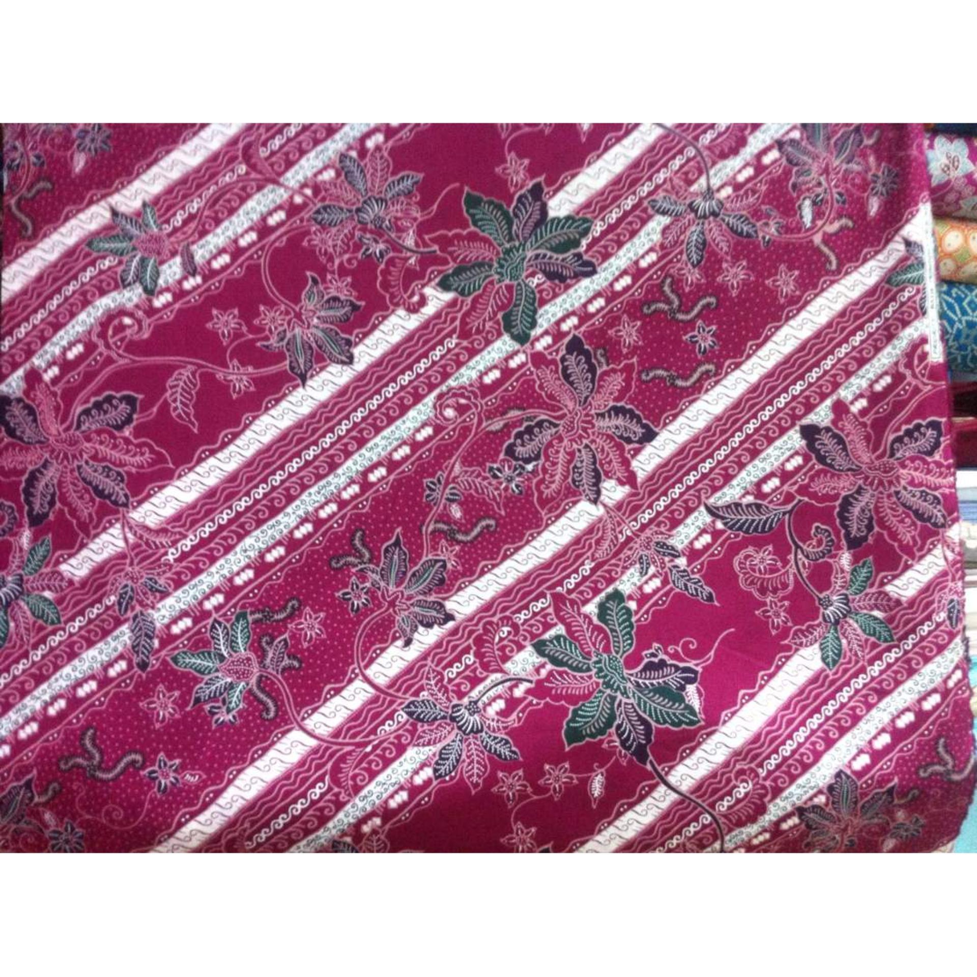Ojala Batik Kain Cap Pagi Sore Coklat A Daftar Harga Set Embos Asli Pekalongan Unik Dan Flash Sale Ftex Printing Motif Bunga Rambat Magenta