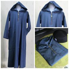 Gamis Koko Anak Laki Laki Cowok muslim Simple Ganteng denim hoodie
