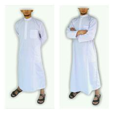Gamis pria gamis ikhwan jubah arab putih polos gamis pria putih polos