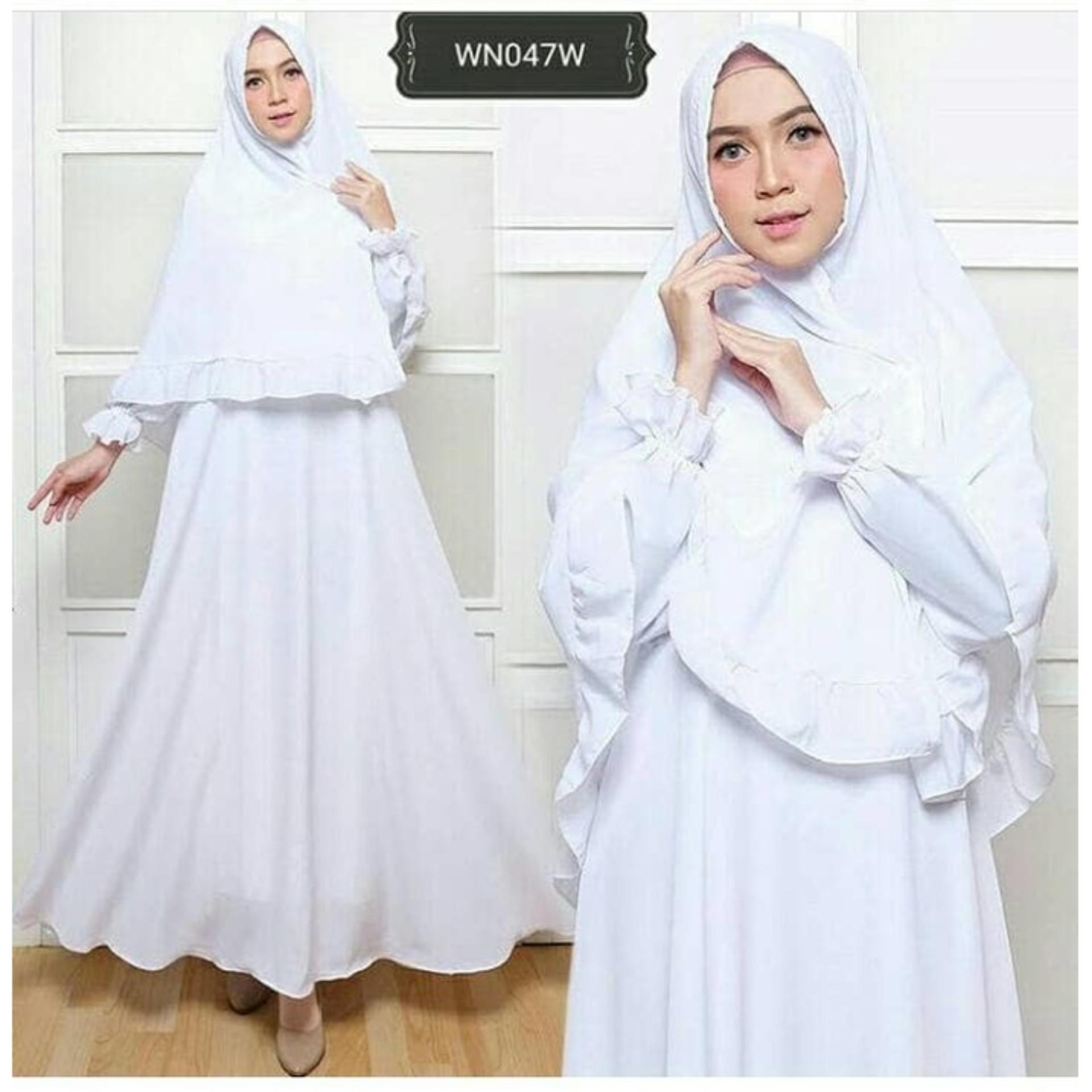 Pelacakan Harga Gamis Putih Syari Umroh Wn47 Gamis Polos Muslimah