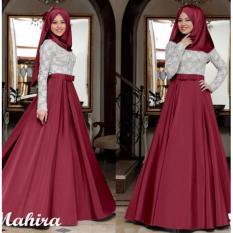 Gamis Syari Pesta bahan Glitter Saten dg Pashmina / Baju Kondangan Muslimah / Fashion Muslim Wanita