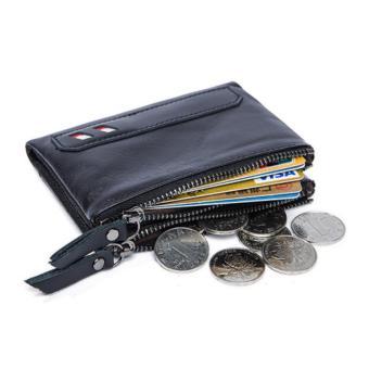 Genuine Leather Men Wallets 2017 Fashion Short Wallet Black - intl - 5 .