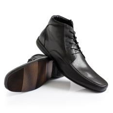 Gino Mariani Men's Shoes Leather Dionix - Hitam