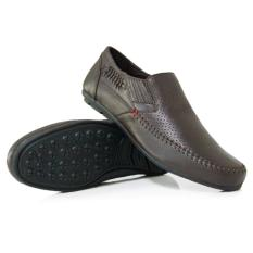 Gino Mariani Men's Shoes Leather Galvio - Cokelat Tua