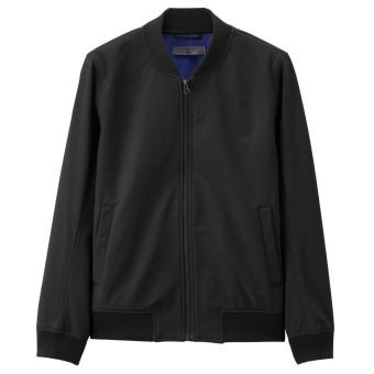Price Checker Giordano Laki-laki Baru Slim Stand-Up Kerah Jaket Pria Jaket Bomber (09 Logo Hitam) Pelacakan Harga