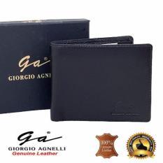 Giorgio Agnelli Dompet Kulit Pria model Tidur / Horizontal Hitam ( GA MIL 541R )