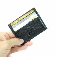 Giorgio Agnelli Original - Dompet Kartu Kulit Asli Card Holder 54 Hitam