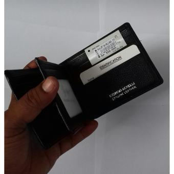 GIORGIO AGNELLI-WALLET GA MILLING-213 BLACK-Dompet Kulit Asli .