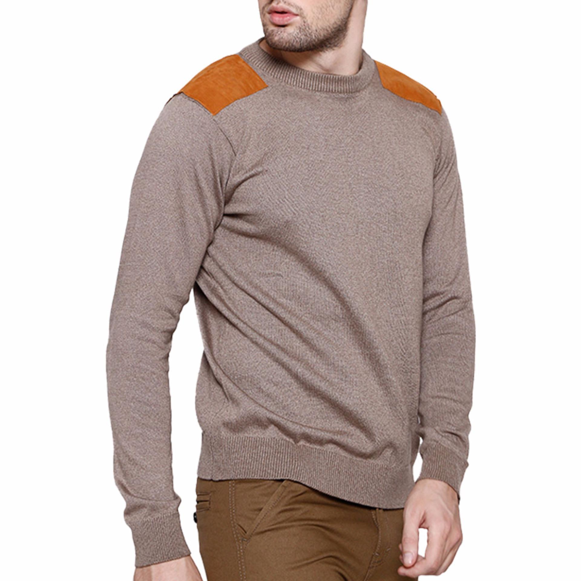 ... XXL Gomuda Sweater Rajut Pria Trooper - Choco