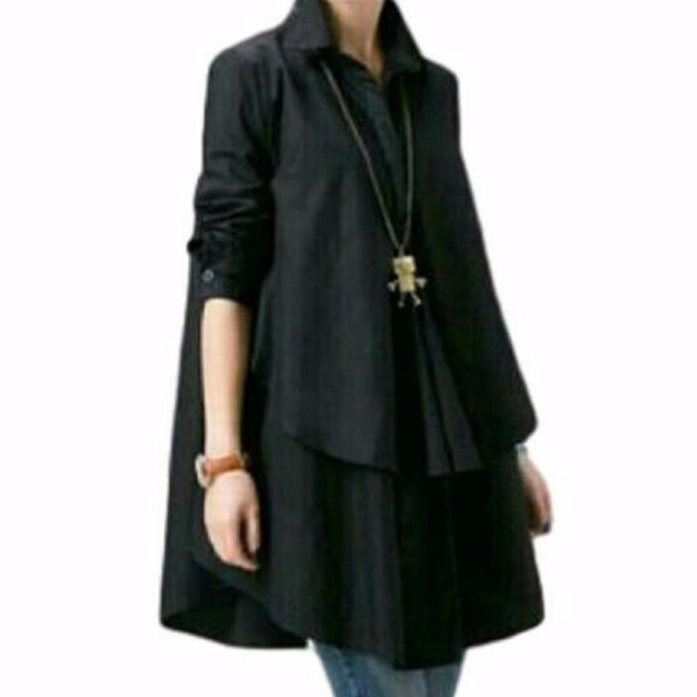 Blouse Kemeja Wanita Diskon Fashionshop Gaine Maroon Tunik Baju Atasan Sabrina Sweater Maelo Grateful Hiraku Best Seller Navy