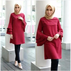 Grateful Fashion  Tunik Katty  1 - Maroon - Best Seller