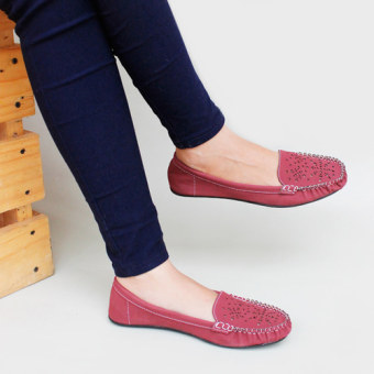 Gratica Sepatu Flat Shoes RJ55 - Maroon