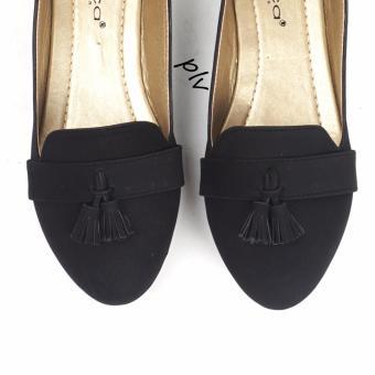 Gratica Sepatu Flat Shoes Tassel UD39 - Hitam - 3