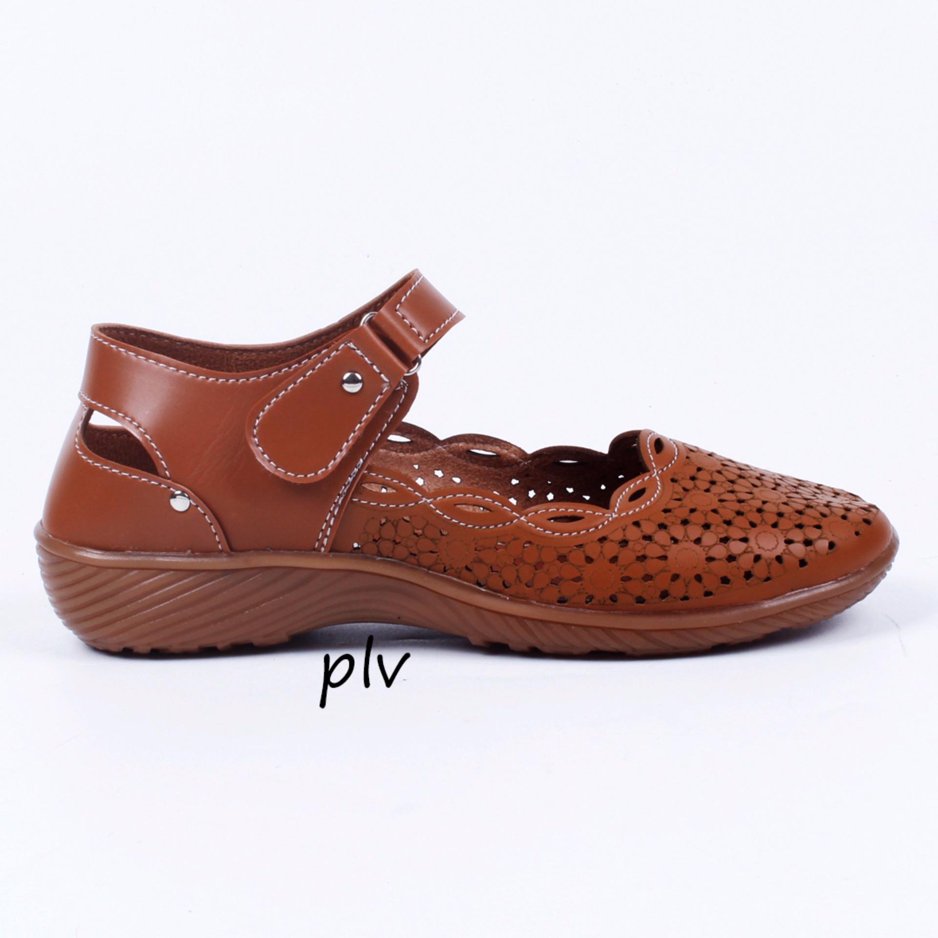 Grivera Sepatu Wanita Flat Shoes Laser MY13 - Tan ...