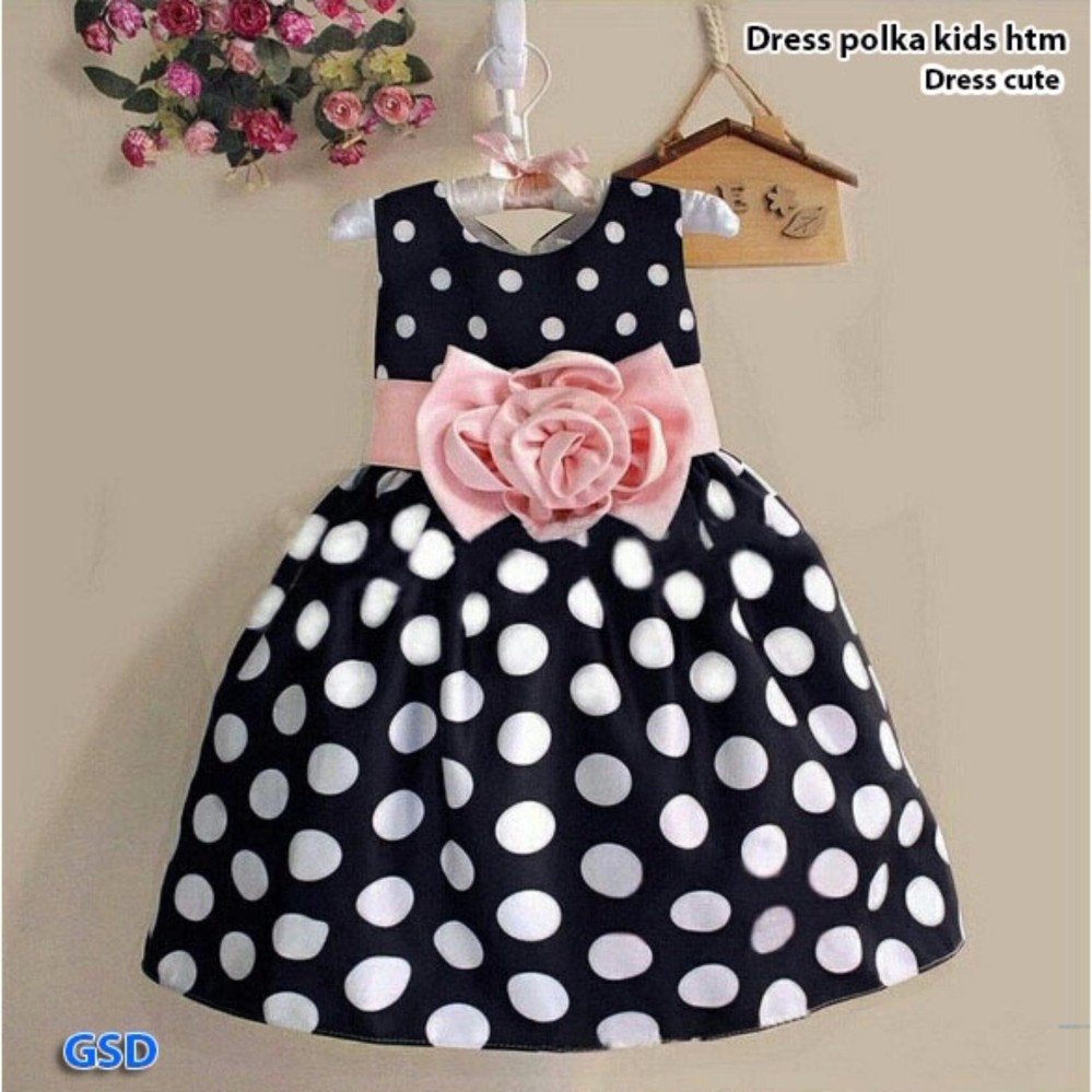 GSD-Mini Dress Anak Cewe-Dress Princes Brukat Pink