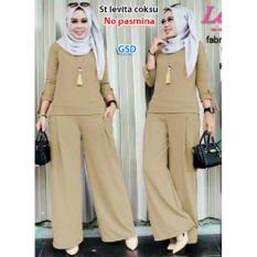 GSD-Setelan Baju Fashion Kulot F101A Coklat