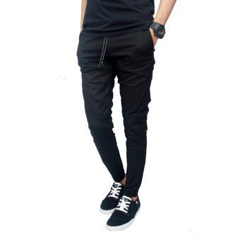 Gudang Fashion - Celana Jogger Pria Panjang - Hitam - 5