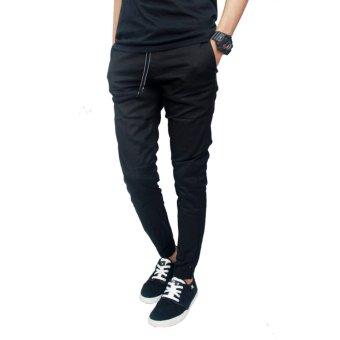 Gudang Fashion - Celana Jogger Pria Panjang - Hitam - 3