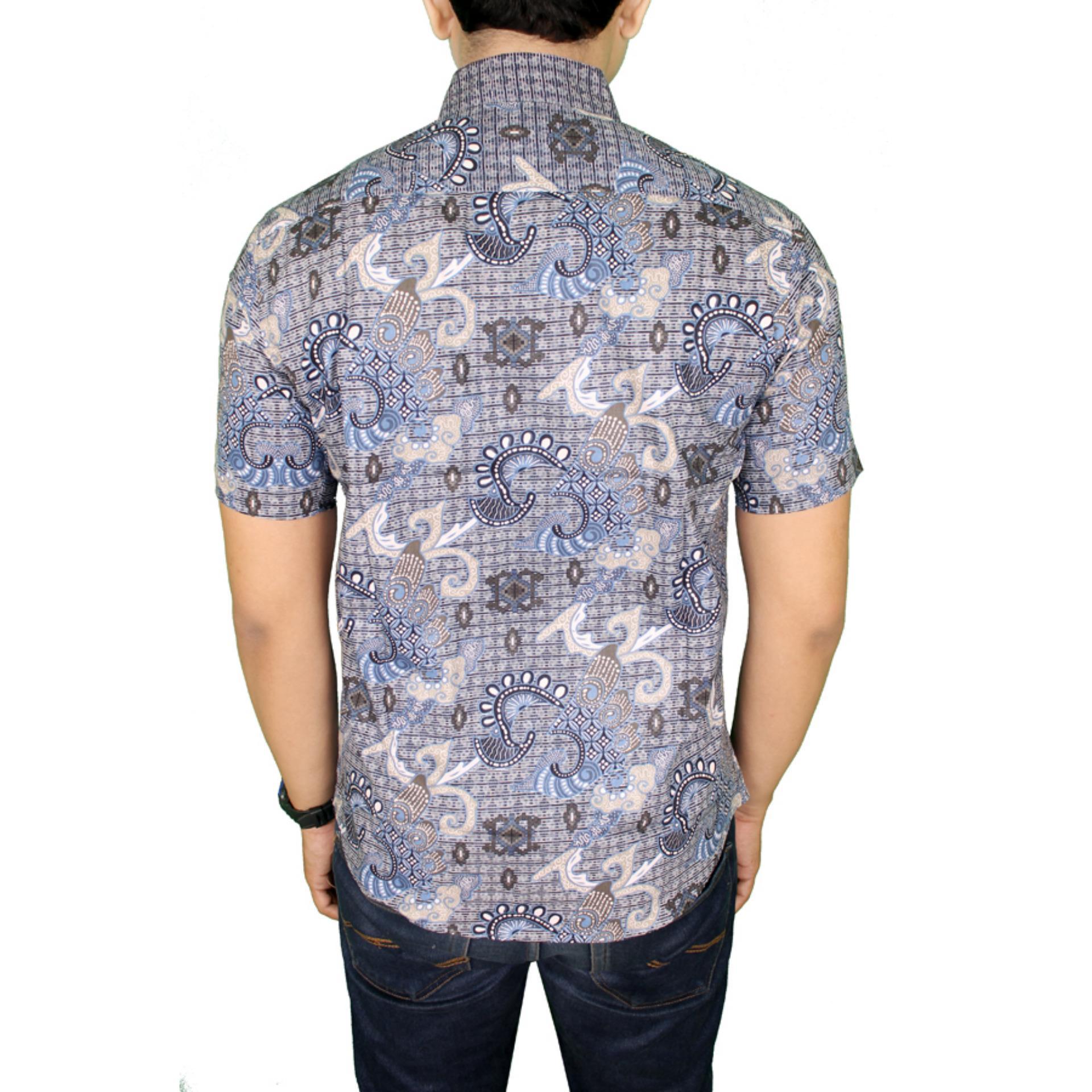 Gudang Fashion Baju Batik Pria Slim Fit Biru4 Daftar Harga Terkini Agrapana Kemeja Cap Gradasi Dewari Hijau 4 Tua M Biru Muda