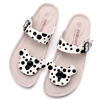 harga Guoluofei lucu Mickey sandal jepit tergelincir keren sendal gabus sendal (Sapi Mickey sandal sandal) Lazada.co.id