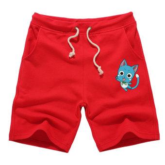 Gambar Habib musim panas untuk pria dan wanita beberapa celana pendek  celana pendek (Merah) ea8677cf18