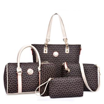 Harajuku baru portabel bahu utusan tas tas wanita (PARK'S warna Lima potong)