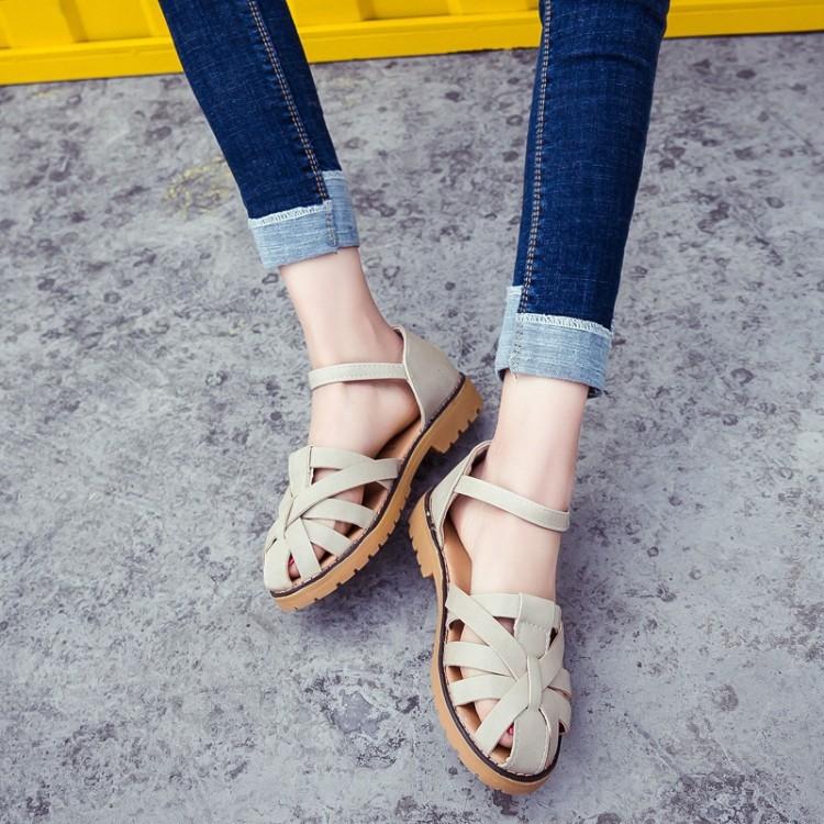 ... Kanvas Anak Perempuan Besar Sol Tebal Pergelangan Kaki Tinggi Source · Flash Sale Harajuku Jepang flat shoes siswa SMA sepatu besar Baotou sandal Putih