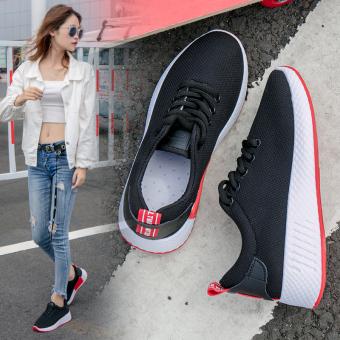 Harajuku Korea baru jala sepatu, sepatu kasual, sepatu olahraga (Hitam)