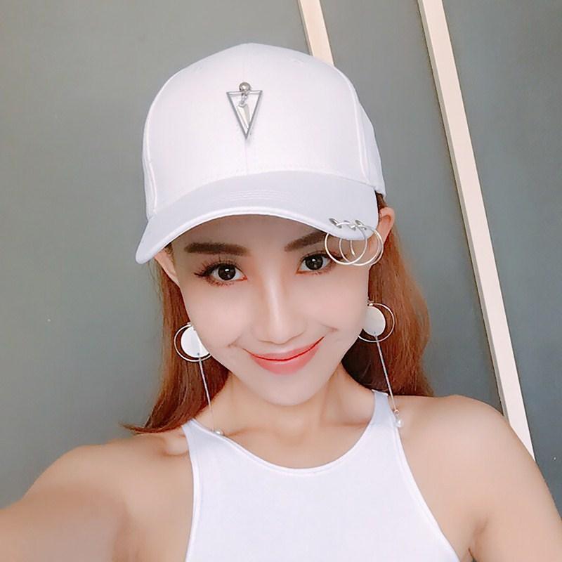 Flash Sale Hari kepribadian pasang patch yang laki-laki ms. topi Korea  Fashion Style bisbol topi (Terbalik segitiga dalam panah kecil putih) aa7ff6f452