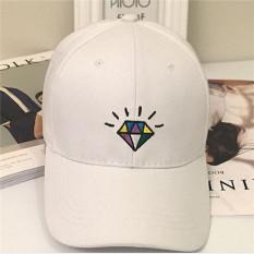 Hanyu Orang Perempuan Baru Minum Gambar Kartun Katak Katun Topi Source · HengSong Men Women New Cotton Shiny Diament Lovers Baseball Hats Caps White intl