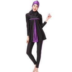 Hequ Ladies Full Cover Muslim Swimwears Islamic Womens Swimsuits Arab Islam Beach Wear Long Modest Islamic Hijab Swimming - intl