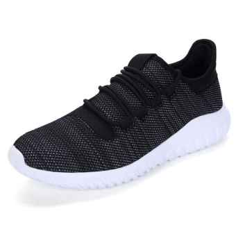High quality fashion fly weave breathable Women sports shoesrunning shoes casual sneakers(black) - intl - 5