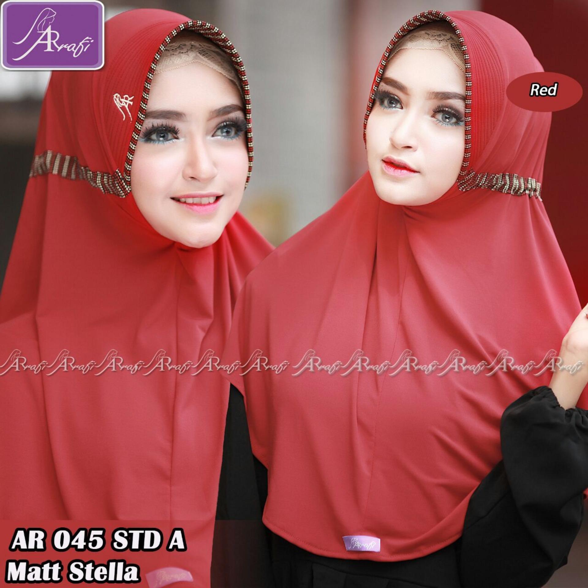 Hijab Instan Arrafi Talita Kombinasi Warna Peach Ar45a Jilbab Violet Best Seller From Brand Kerudung Red Bergo Khimar