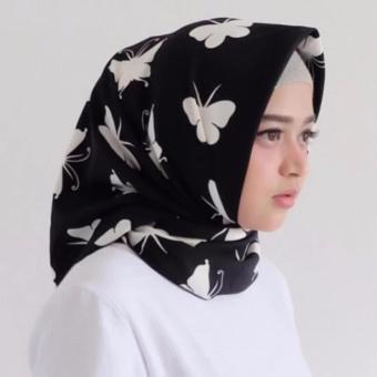 harga Hijab - Kerudung Segi Empat - Cotton Japan - Zaskia Black / Jilbab Lazada.co.id