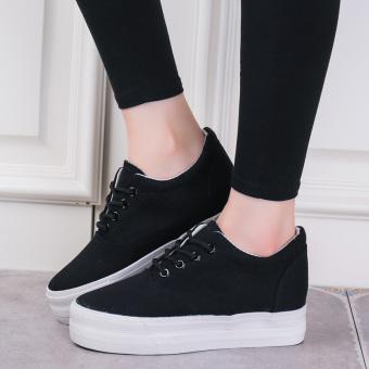 Harga baru Hitam Kecil Perempuan Sepatu Golden Goose 6 Cm Siswa Sepatu Bola  Serba Putih Sepatu 588c78fb1f