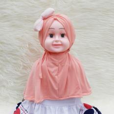 HQo Kerudung Anak Bayi Aisyah Kerut Pita / Jilbab Anak Bayi / Jilbab Bayi / Hijab Pashmina Instan Anak