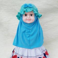 HQo Kerudung Anak Bayi Syiria Topi 2 Tone / Jilbab Anak Bayi / Jilbab Bayi / Hijab Pashmina Instan Anak
