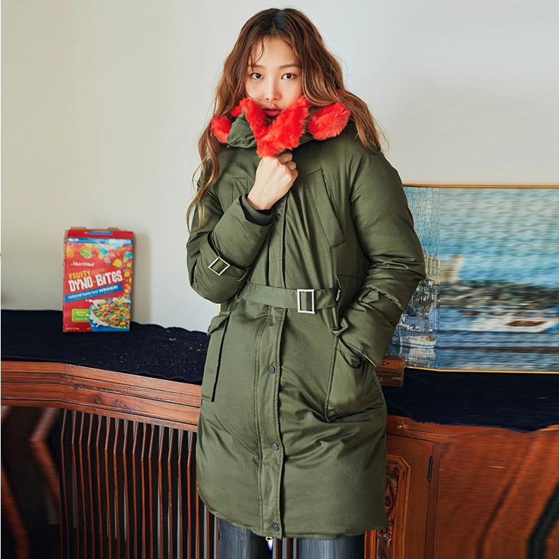 Cheap online HSTYLE jm8478 Korea Fashion Style baru Nagymaros kerah berkerudung musim dingin dan bagian panjang