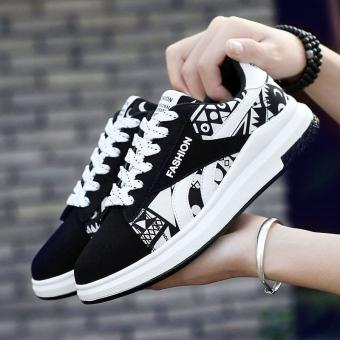 I Korea musim gugur baru sepatu sepatu pria sepatu sepatu (Hitam dan putih)
