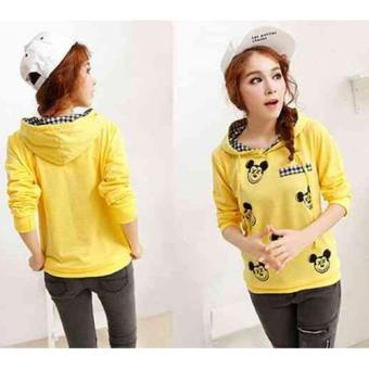 Harga kyoko fashion sweater mouse-(yellow)
