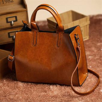 Women Ladies Leather Bag Handbag Purse Messenger Shoulder Crossbody Bag Tote HOT Brown - intl