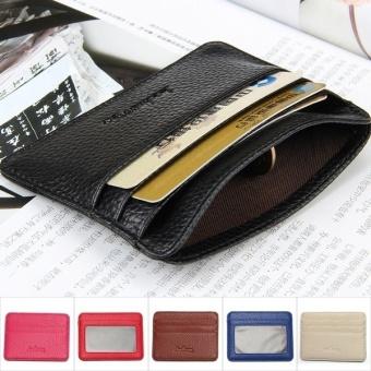 Black Horse Fashion Business ID Credit Card Holder Mini Wallet Pocket – blue - intl