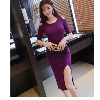 Harga kyoko fashion dress simple -(purple)